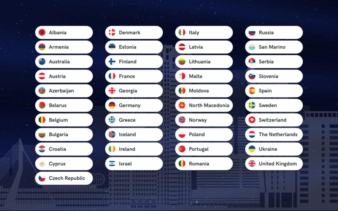 Paesi Partecipanti Eurovision 2020