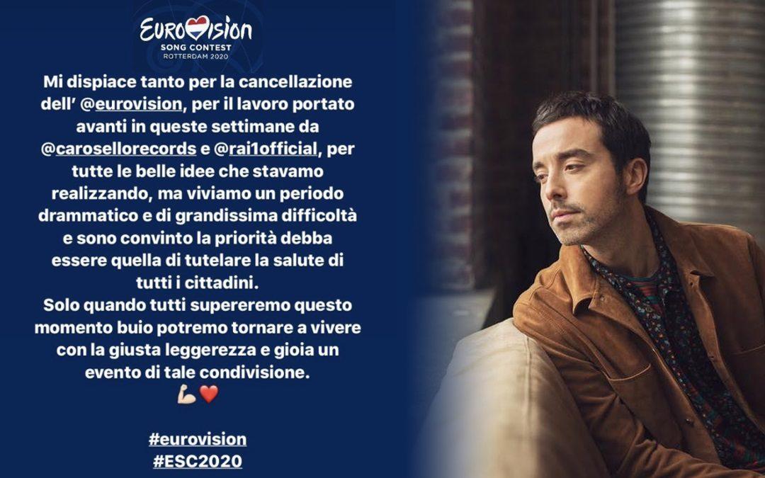 """Diodato: """"Sono dispiaciuto per la cancellazione dell'Eurovision"""