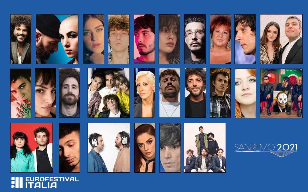 I nomi dei 26 Campioni in gara al Festival di Sanremo 2021