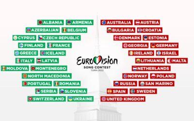 Eurovision Song Contest 2022: 41 Paesi in gara a Torino!